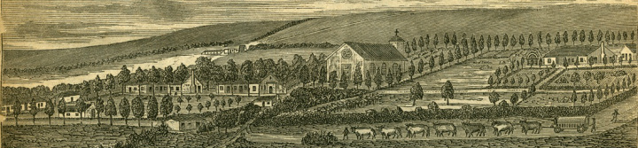 Detail from woodcut of Umpumulo mission station, Colony of Natal, c. 1880.
