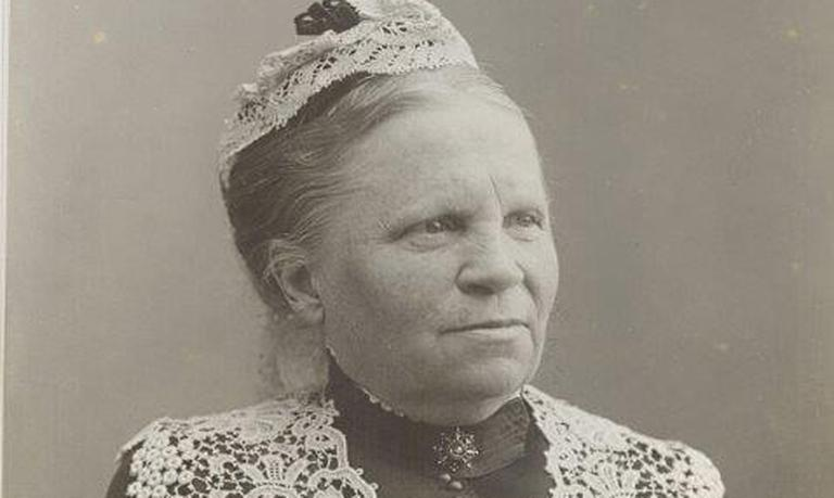 Bolette Gjør, first editor of the women's magazine Missionslæsning for Kvindeforeninger (Mission Reading for Women's Groups), started in 1884Picture